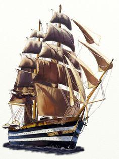 Segelschiff zeichnen - Anleitung-dekoking-com-7
