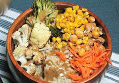 Roasted Veggie & Brown Rice Bowl