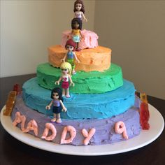 Lego Friends layer cake for 9 year old girl