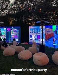 Luka Sabbat was spotted at Kourtney Kardashian's birthday bash for her eldest son on Saturday. He enjoyed swatting at the pinata for the extravagant event celebrating Mason Disick turning nine. 10th Birthday Parties, Birthday Fun, Birthday Party Themes, Teenage Boy Birthday, Khloe Kardashian, Festa Do Pac Man, Anniversaire Candy Land, Kardashian Birthdays, Nerf Party