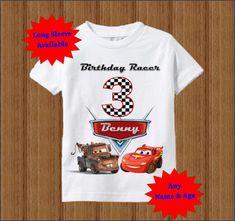 Disney Cars cumpleaños camisa niños Raglan por BirthdaysGalore