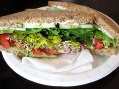 Cucumber Avocado Sandwich