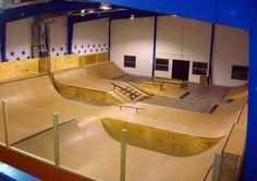 Indoor skatepark Evensville IN Backyard Skatepark, Future House, My House, Skate Man, Building Design, Man Cave, Small Spaces, Indoor, Houses