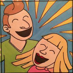 Laughing / lachen   L van lachen