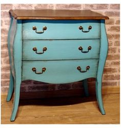mellow commode 3 tiroirs turquoise