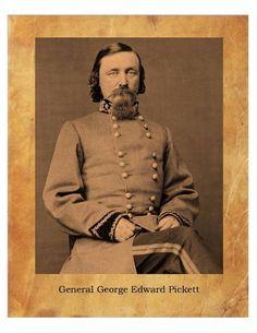 General George Edward Pickett Civil War Confederate States  8X10 Photo