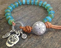 Knotted Boho Rustic Cross Leather Wrap by TwoSilverSisters on Etsy