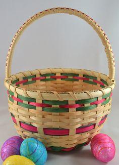 Round Basket-Gathering Basket-Storage Basket- Handwoven Basket ...