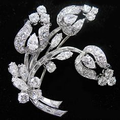 BVLGARI Diamond Brooch Circa 1965.