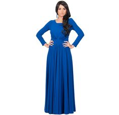 Women's Cobalt Blue Elegant Round Neck Long Sleeve by GCGme...$54.95...various colors..my size