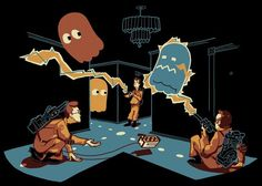 ghostbusters and pacman mash up - love it