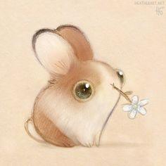 Nom nom #bunny #noms #chickweed #flower