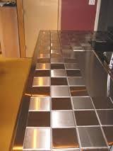 kitchen tile countertop - metal tiles