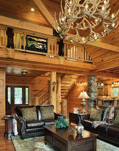 Amazing Log Home Decorating Ideas - http://loghomecanada.blogspot.com/2015/02/amazing-log-home-decorating-ideas.html