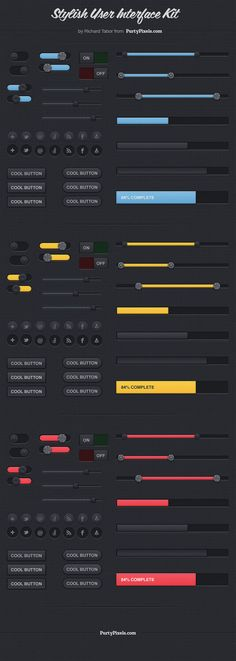 Free download: Exclusive Stylish User Interface Kit (PSD)