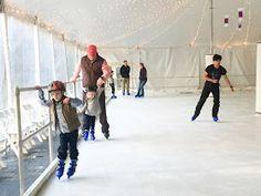 Ice skating at the Ritz Carlton Lodge on Reynolds Plantation in Greensboro, Ga. Lake Oconee
