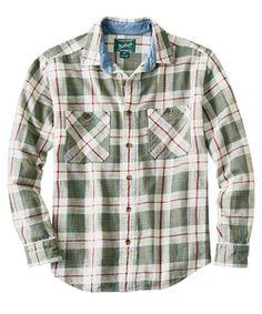 Men's Homespun Plaid Flannel Shirt - available at woolrich.com #woolrich1830 #woolrichgreen