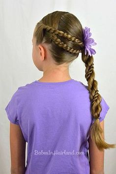 French Braid to a Braided Ponytail Video | Babes In Hairland | Bloglovin
