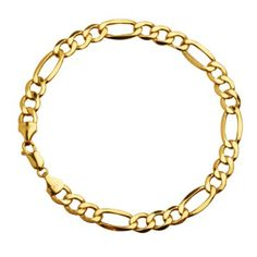 "SALE!! 10k Yellow Gold 8.5mm Figaro Men's Bracelet, 9"" REVIEW"