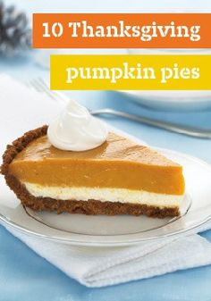 10 Thanksgiving pumpkin pies