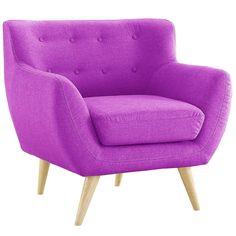 Amazon.com: Mid Century Purple Modern Living Room Accent Armchair: Kitchen & Dining