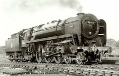 70016 Ariel, looking shiny @ Cockerhill Glasgow June 1951, Britannia class locomotive