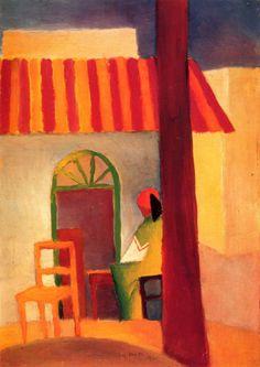 Turkish Cafe, en la concepción de August Macke (1914).