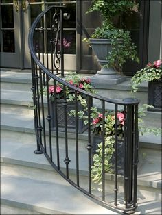Very Special Homes And Houses (Patio Step Handrail) · Outdoor RailingsPorch  RailingsWrought ...