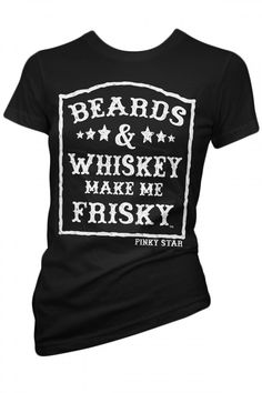 Women's Beards And Whiskey T-Shirt - Black size large I want this so bad!!!!!