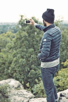 A quilted jacket and a beanie will have you covered for fall.