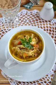 Flaczki z boczniaków Soup Recipes, Cooking Recipes, Polish Recipes, Polish Food, Recipes From Heaven, Bon Appetit, Vegan Vegetarian, Stuffed Mushrooms, Brunch