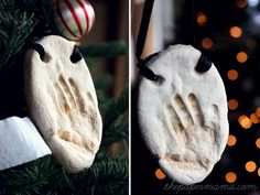 handprint  ornament DIY