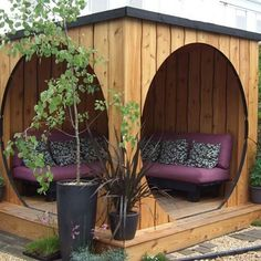 Garden structures can transform your outdoor space from pretty standard to utterly unique. Here are some great examples from wooden gazebos to garden pods! Outdoor Rooms, Outdoor Gardens, Outdoor Living, Outdoor Decor, Backyard Seating, Backyard Landscaping, Backyard Ideas, Backyard Patio, Outdoor Seating