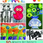 Quick and easy art lesson plans for grade three-six. Great for sub art plans. #deepspacesparkle #hundertwasserart #rizziart