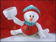 Boneco de Neve - Porta Velas - Biscuit / Porcelanafria - YouTube