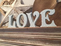 Wooden Letters - Hand-painted - LOVE - Victorian, Free-standing, 15cm by LoveLettersMe on Etsy