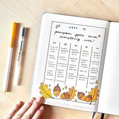 Viola | Bullet Journal sur Instagram: Pumpkin spice and everything nice🍂✨ This week has been a really good one for me: I had a birthday party until 4 am, I had fun with my…