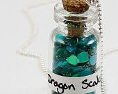 Dragon Scales Bottle Necklace Custom Vial Necklace bottle crafts miniature Items similar to Dragon Scales Bottle Necklace Custom Vial Necklace on Etsy crafts diy tiny Magic Bottles, Mini Glass Bottles, Bottles And Jars, Bottle Jewelry, Bottle Charms, Bottle Art, Jar Crafts, Resin Crafts, Jewelry Crafts