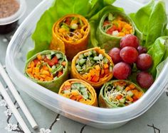 Easy-peasy lunch idea. veggies wrapped in tortilla and cut like sushi