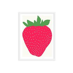 Jorey Hurley Strawberry Posters ($99) ❤ liked on Polyvore featuring home, home decor and wall art