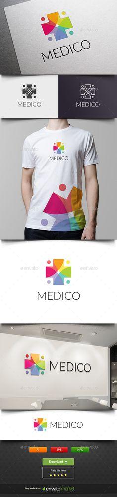 Medico Logo Template #design #logotype Download: http://graphicriver.net/item/medico/11826790?ref=ksioks