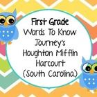 This packet goes along with the First Grade Journey's (Houghton Mifflin Harcourt) Reading Series. I have made a page for each story in the (South C. First Grade Words, First Grade Reading, Journeys First Grade, Journeys Reading Series, Houghton Mifflin Harcourt, Daily 5, Literacy Activities, Language Arts, Vocabulary