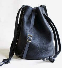 Ana Leather Bucket Bag | This laidback leather bucket bag is one of those bags. The go-... | Handbags