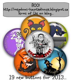 Meadows Haunted House: Halloween Buttons 2013 ready for download...