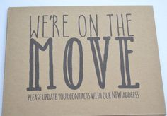 Just Moved? Let your friends and family members know! What more perfect way than by sending them a postcard with your new address letting them