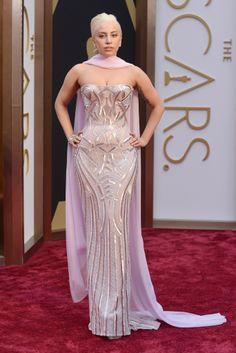 Lady Gaga in Atelier Versace #Oscars2014 #redcarpet