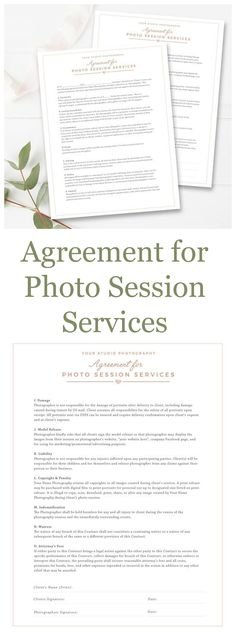 Client Booking Form For Photographer, Photography Contract - photography services contract