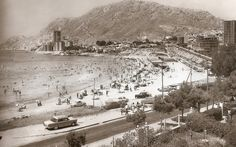 Playa de la Albufereta en 1960