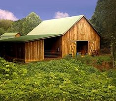 Small Horse Barn One Story | pine barn with large doormer a 24 x 36 barn