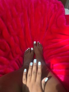 Acrylic Toes, Simple Acrylic Nails, Pink Acrylic Nails, Acrylic Nail Designs, Simple Nails, Acrylics, Cute Toe Nails, Aycrlic Nails, Diva Nails